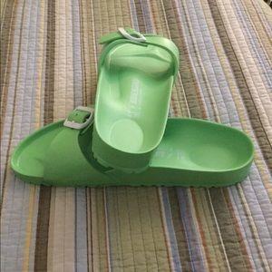 Birkenstock Shoes - BIRKENSTOCK LIME GREEN SINGLE STRAP size 41